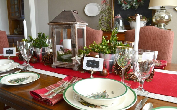 Weekly checklist to organize your christmas holiday for Christmas decorating ideas for dining room chairs