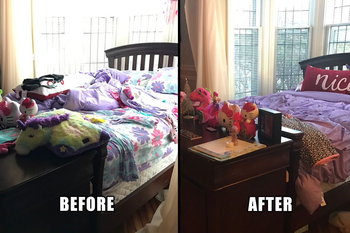 Kids Bedroom Makeover kids bedroom makeover - organized transitions llc